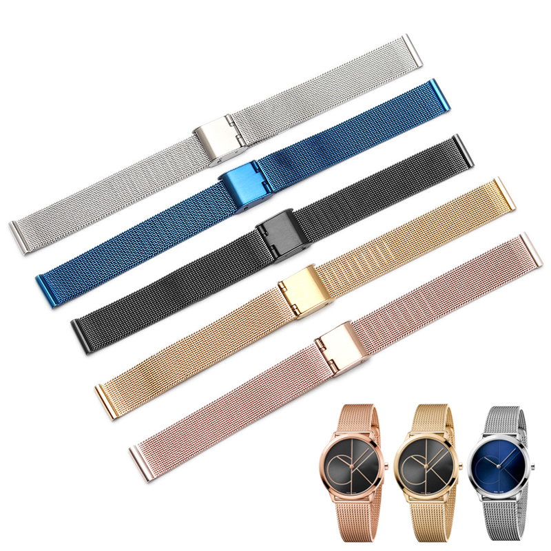 blue Black Silver Gold Rose Gold ultra-thin Stainless Steel milan Mesh Strap Bracelets Watch Band 8 10 12 14 16 18 20 22 24mm