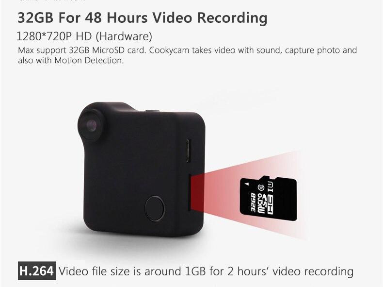 Nouvelle Caméra CCTV Wifi P2P IP 720 P HD mobile contrôle Mini caméra Sans Fil Action Cam Vélo Caméra Mini DV DVR Vidéo Voix enregistreur - 4