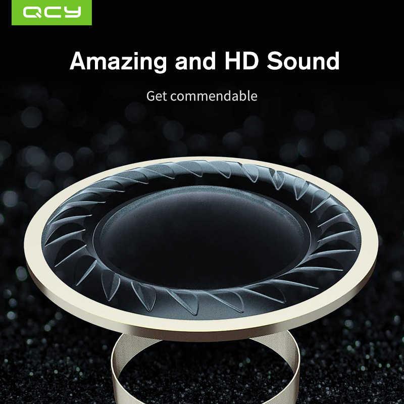 QCY qm1 מיני Bluetooth V5.0 אוזניות עם מיקרופון אלחוטי ספורט אוזניות מוסיקה אוזניות רעש ביטול