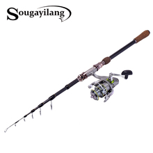 Telescopic Fishing Rod With Reel Portable Carbon Fishing Rod And 13BB Spinning Fishing Reel High Quality Fishing Rod Kit