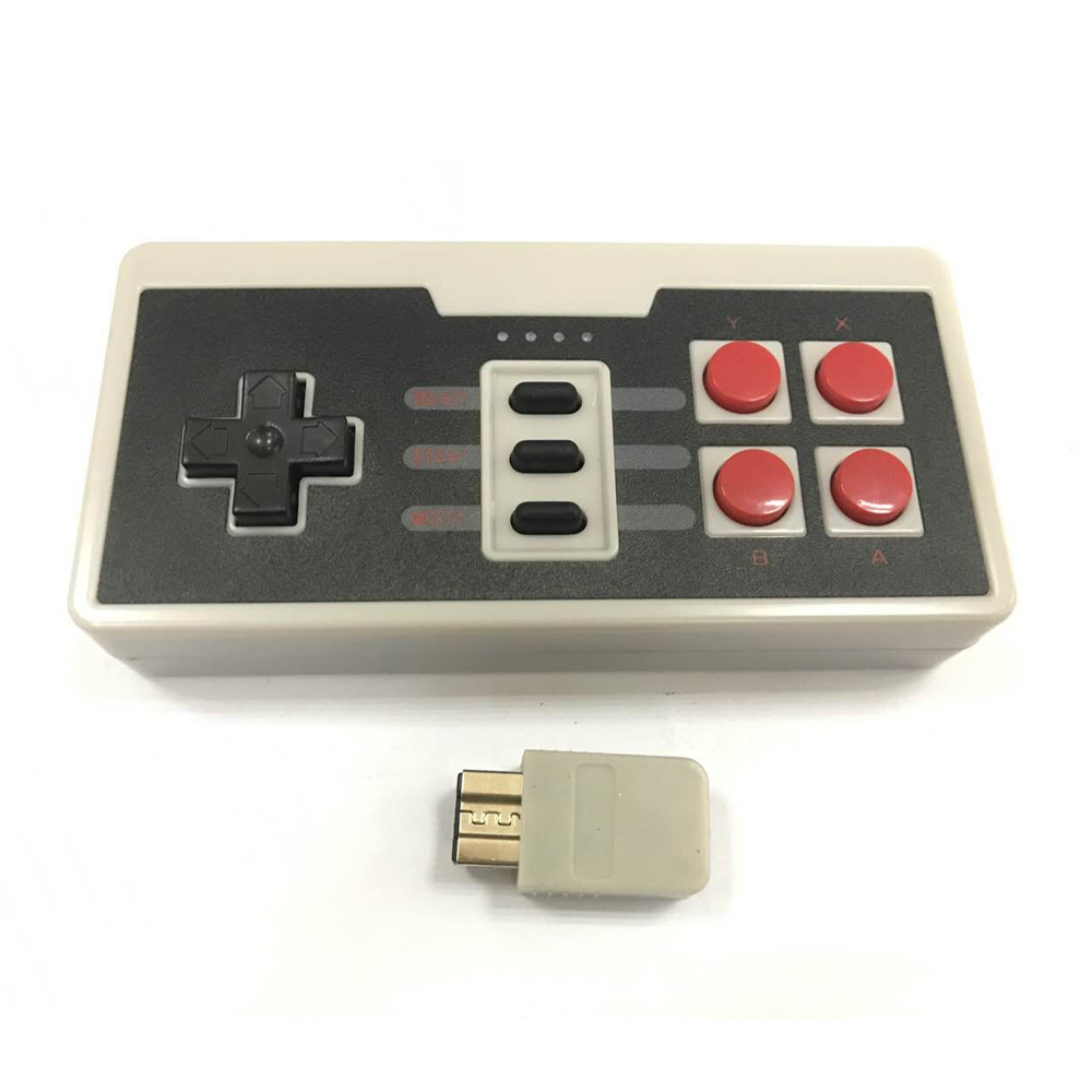 10PCS For Nintendo NES Mini Classic Edition Wireless Gaming Controller joystick Gamepad for three point handle with Receiver