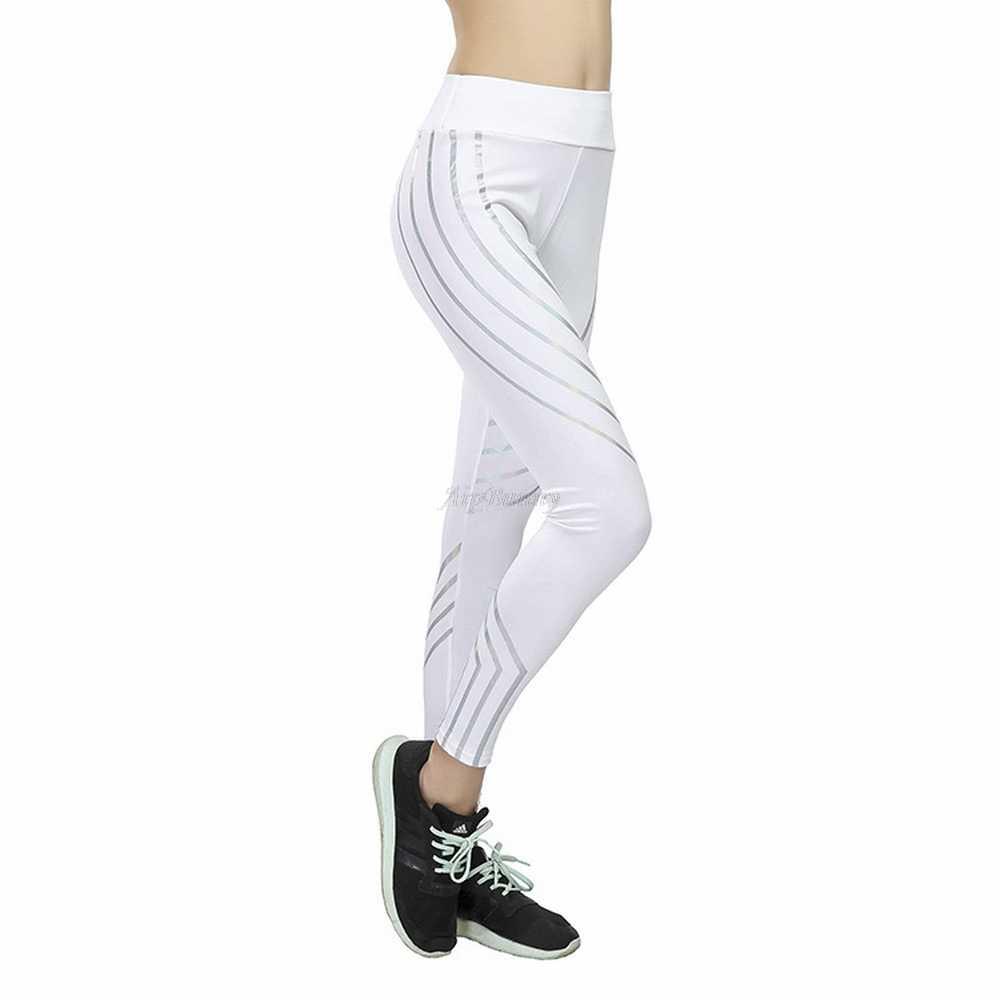 97b46ab0d3 ... Plus Size XXXL Laser Reflective Legging Women'S Yoga-Pants Big-Girl  Sport Fitness Leggings ...