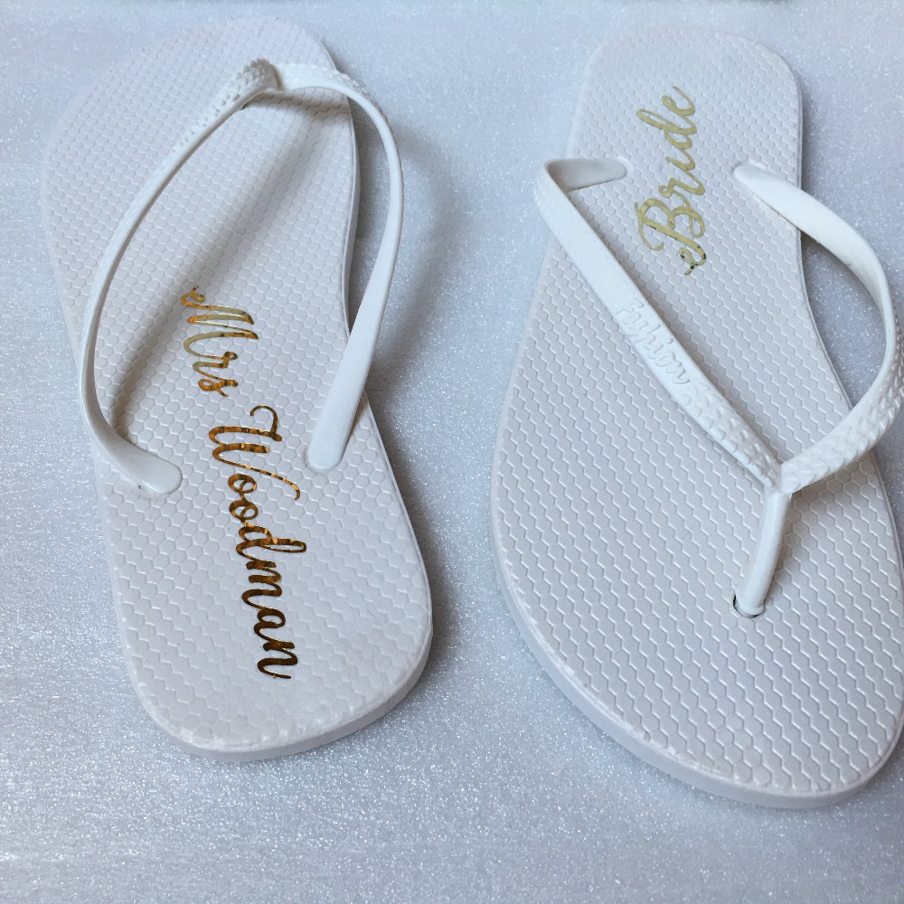 7fb3b364dbdd Detail Feedback Questions about 1pairs lot Custom name Bacholerette hen  party Flip flop Wedding Proposal Personalized Bride Groom Groomsman  Bridesmaid gifts ...