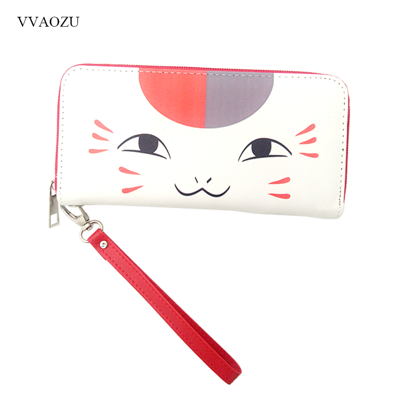 Cartoon Natsume Yuujinchou Printing Women Long Wallet Female Long Clutch Zipper Coin Purse Card Holder Phone Bag anime natsume yuujinchou women s cartoon wallet female clutch long purse zipper coin pocket card holder portefeuille femme