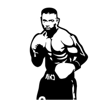 10CM*16CM Interesting Creative Sports Boxing Martial Arts Athlete Car Stickers Vinyl Decal