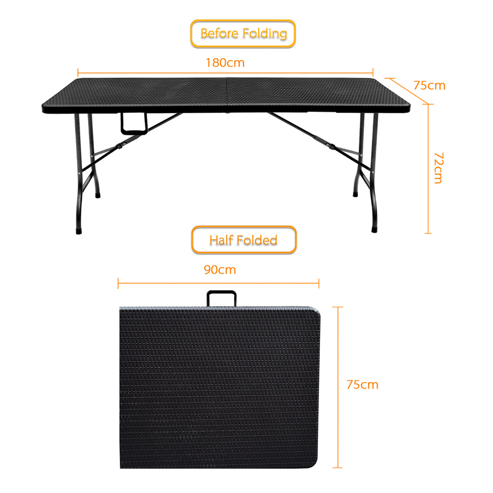 iKayaa US Stock Outdoor Camping Table Picnic Garden Party BBQ