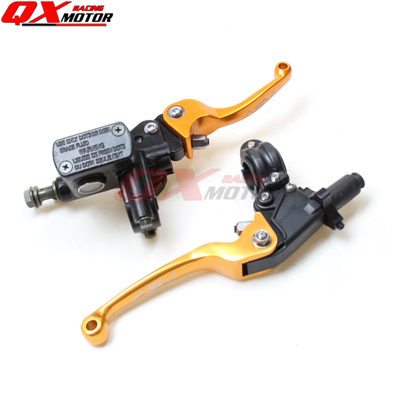 Refit Parts  Brake folding brake lever clutch Lever with front pump For Most Motorcycle Dirt Pit Bike Motorcross CRF KLX YZF RMZ asv clutch and brake folding aluminum lever for dirt bike pit bike spare parts