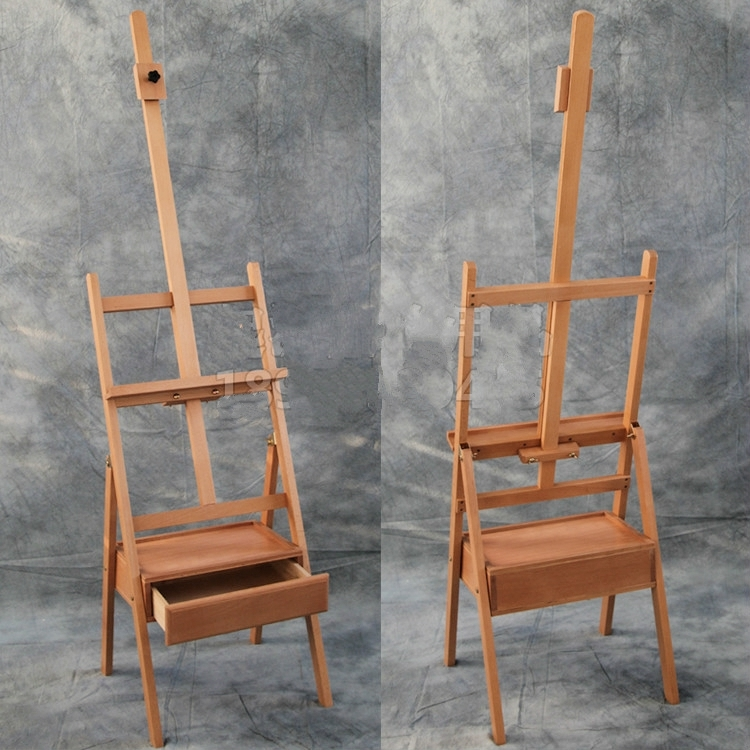 1.5 1.9m Liftable Beech Wooden sketching Easel Art Painting Easel With Drawer Display Exhibition Stand Wooden Painting Cavalete