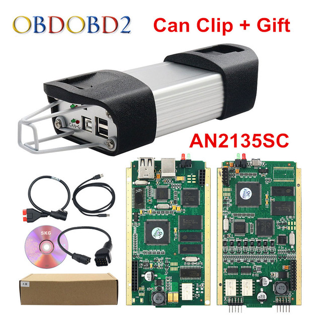 Can Clip V200 Gold Full Chip CYPRESS AN2131QC AN2135SC Car Diagnostic Tool For 1998 2020 Gift Pin Extractor V2+Reprog V181