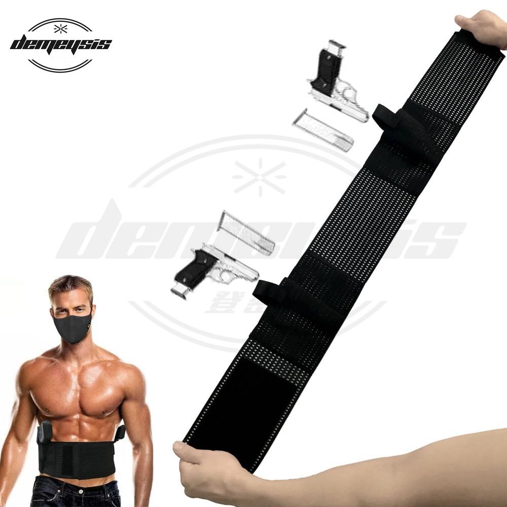 Universal tático ajustável barriga faixa da cintura pistola mão direita esquerda arma coldre para glock beretta usp e a maioria pistola