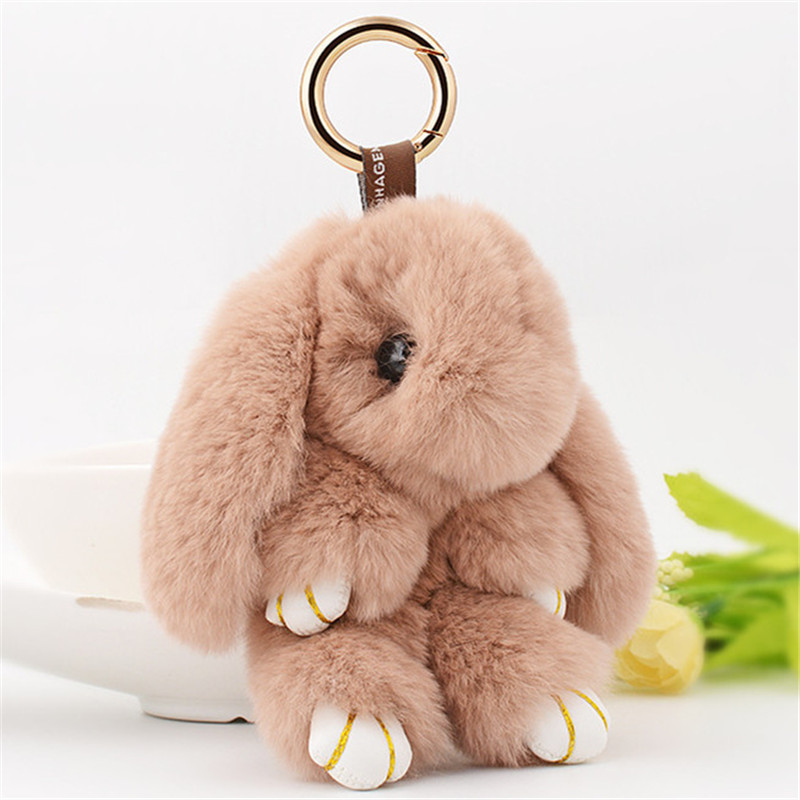 1a468a216e ... Rongqing fashion cute real rabbit fur bunny bag pendant rabbit toy jpg  800x800 Rabbit keychain true ...