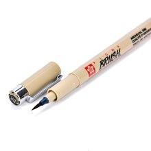 1 шт., кисть Sakura, ручка для каллиграфии, черные чернила, водостойкая ручка для рисования, маркеры, кисть для письма, трубчатые технические товары для рукоделия