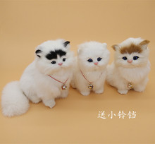cute simulation cat model polyethylene & furs voice cat home decoration about 16x10cm p0017