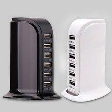 Multi usb charger voor iphone samsung universele 6 poorten usb laadstation voor tablet draagbare travel charger EU US AU UK plug