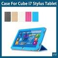 """Для Cube i7 Stylus case pu Кожаный Чехол Смарт Стенд крышка Складные PU Чехол Для Cube i7 iwork11 Stylus Стилус 10.6 """"планшетный + подарки"""