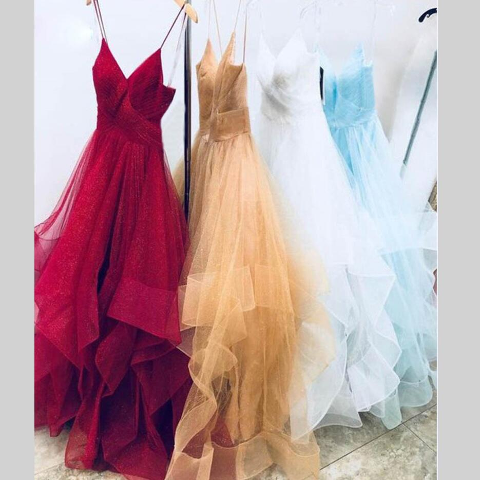 Sexy A Line Long   Evening     Dress   2019 New Women Formal Gown For Prom Wedding Party   Dresses   Robe De Soiree