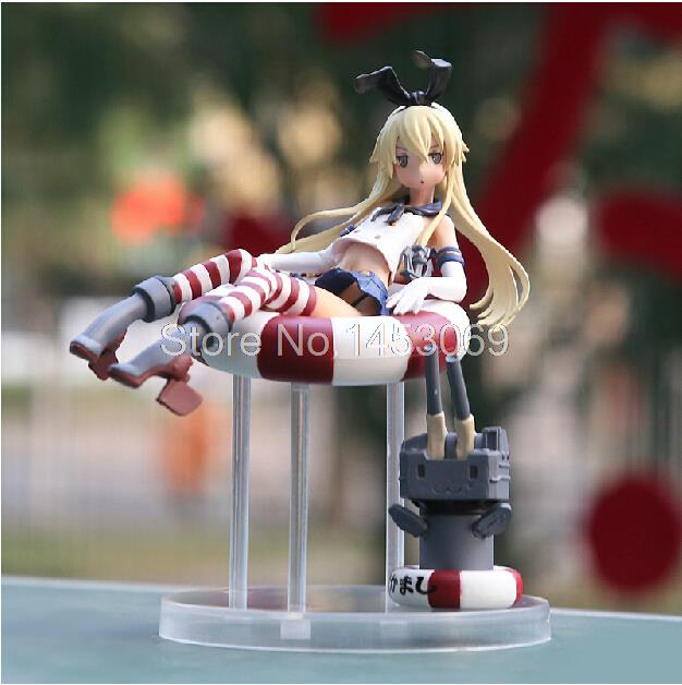 Anime Kantai Collection Shimakaze PVC Action Figure Collectible Model Toy 15CM Free Shipping SGFG175 shimakaze cosplay shoes kantai collection anime boots