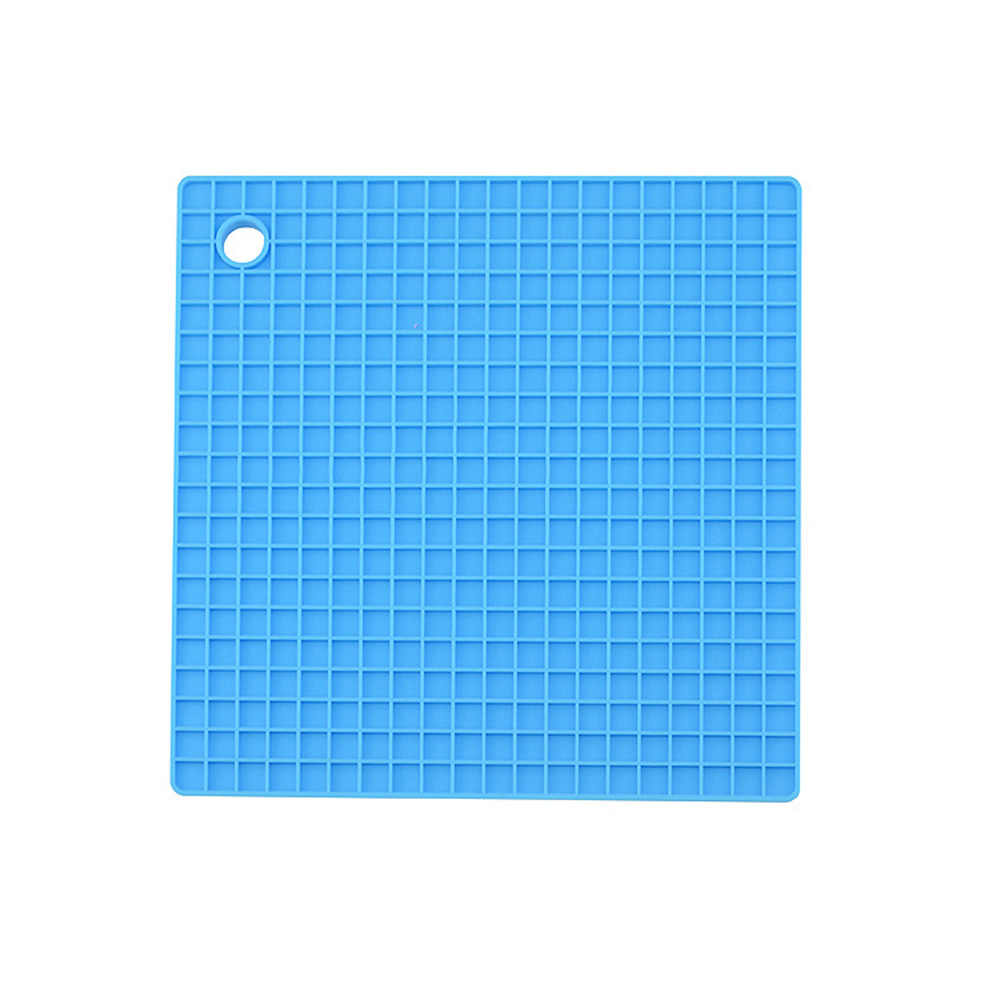 Multi Fungsional Silikon Tahan Panas Pad Non-Slip Dapur Square Isolasi Bantal Anti Jasa Casserole Mat M