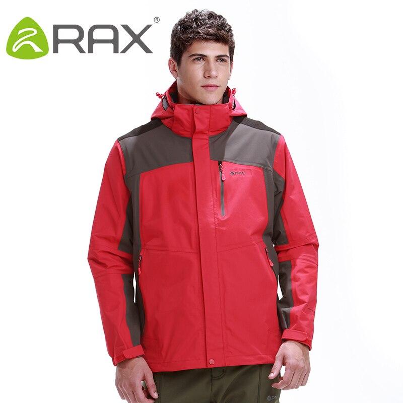Rax Hiking Jackets Men Waterproof Windproof Warm Hiking Jackets Winter Outdoor Camping Jackets Thermal Coat 44-1A029
