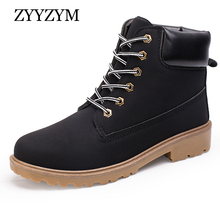 New Arrival Autumn Winter Warm Boots Men PU Leather Unisex Style Fashion Male Work Shoes Lover Martin Boot Large size