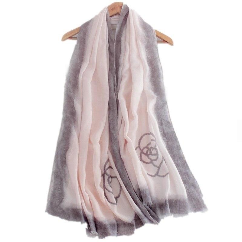 simple print thin scarf fashion