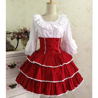 New fashion lolita cosplay Costume for women adult princess lolita dress Cotton lace Two piece dresses