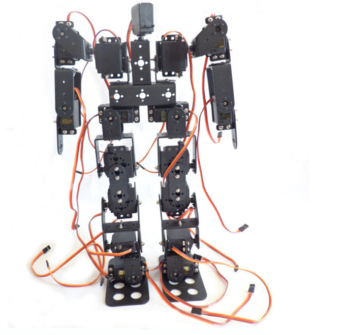 цена на 17DOF Biped Robotic Educational Robot Humanoid Robot Kit Servo Bracket with Remote Controller F17327