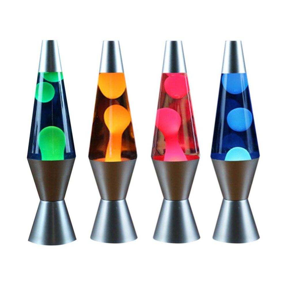 Алюминиевая база Лава воском лампа жидкая паста свет инновационные конические украшения свет Медузы свет спальня ночник