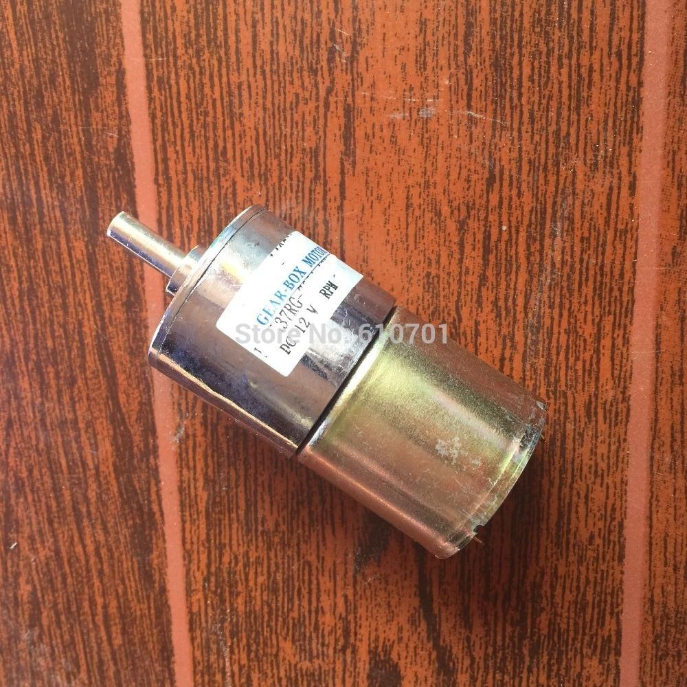 12V 24V 5/10/15/20/30/35/50/100/200/300/400/500/800/1000RPM Permanent Magnetism DC Gearbox Geared Motor DFGA37RG Shaft in Center цена