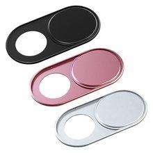 Universal metal webcam capa capa webcam ímã do obturador slider capa da câmera para o portátil ipad pc macbook tablet privacidade adesivo