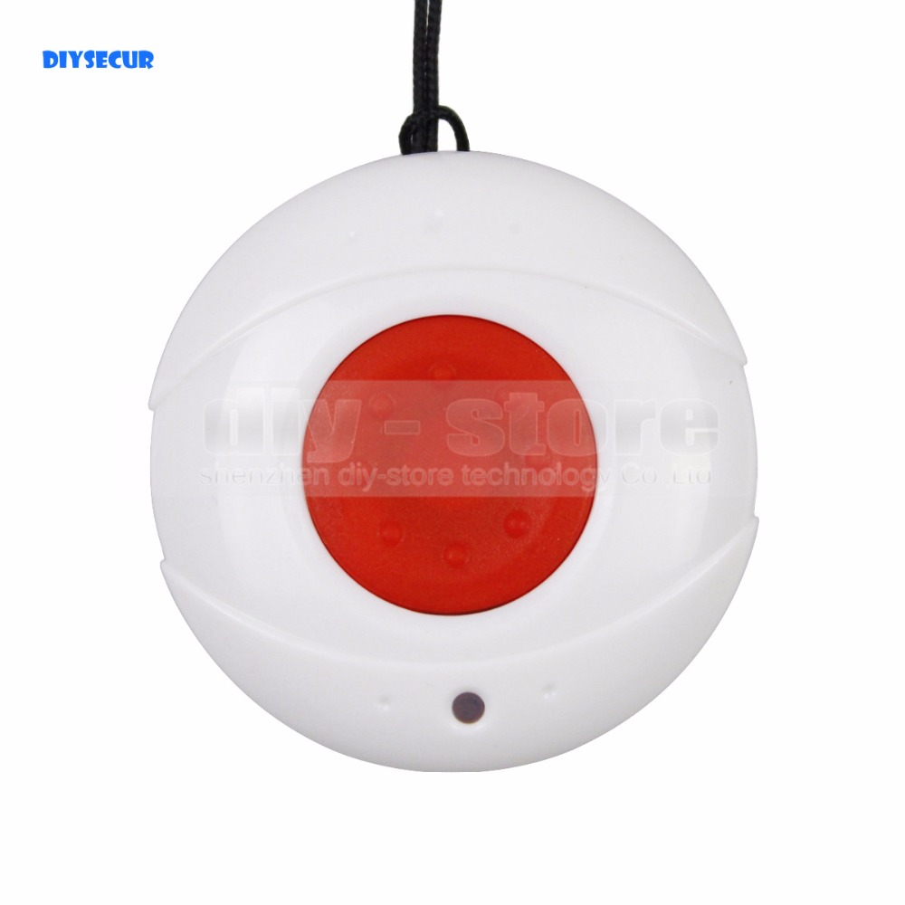 DIYSECUR JA-03 Waterproof Necklace style Emergency Panic Push Button for Our Alarm System ...