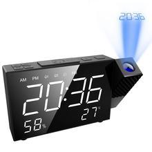 Projection Clock Sleep-Timer Fm-Radio LED ORIA Digital Usb-Snooze