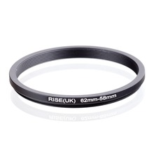 RISE(UK) 62mm 58mm 62 58mm 62 to 58 Step down Ring Filter Adapter black