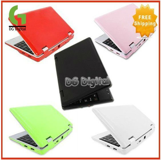 Free Shipping 7 inch 4GB Wifi laptop mini netbook Android 4.0 or wind CE 6.0 Wholesale Support Dropship