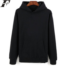 LUCKYFRIDAYF Long Sleeve Sweatshirt Men's Hooded Black Fashion New Brand Sweatshirt Men Hoodies Solid Casual Pullover Clothing