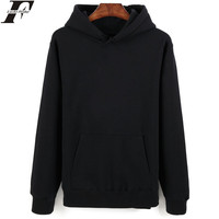 Hot Sale Long Sleeve Sweatshirt Men S Hooded Black Fashion New Brand Sweatshirt Men Hoodies Solid
