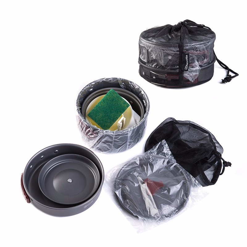 NNaturehike 2-3 Person cooking set for camping outdoor tableware
