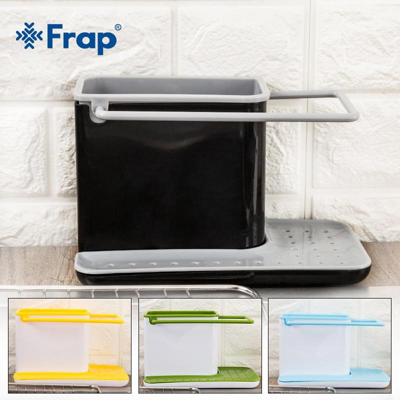 Frap Racks Organizer Caddy Storage Kitchen Sink Tidy Utensils Sponge Holders Drainer Integrated Drainer Kitchen Tool Y36021