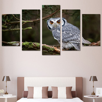 Promotion High Quality HD Printed Animals Owl Painting on canvas room decoration print poster picture canvas Free shipping