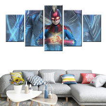 Avengers movie canvas poster HD print wall art 5 panel home decor living room bedroom mural