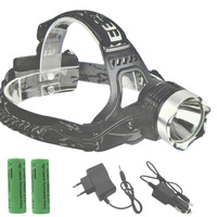 Headlamp 2000Lm CREE XM L XML T6 LED Headlamp Rechargeable Headlight AC Charger Car Charger