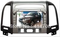 Fabriek Groothandel Hoge Kwaliteit Auto Dvd Gps voor 8 inch HYundai 2012 santa FE + SWC + dual zone + ebook + a2dp + gratis kaart
