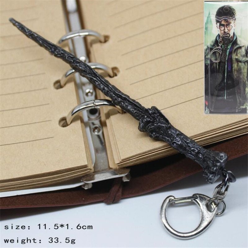 Anime Movie Harry Potter Cosplay Props Wands Hogwarts Magic School Magic Stick Keychain Key Chain