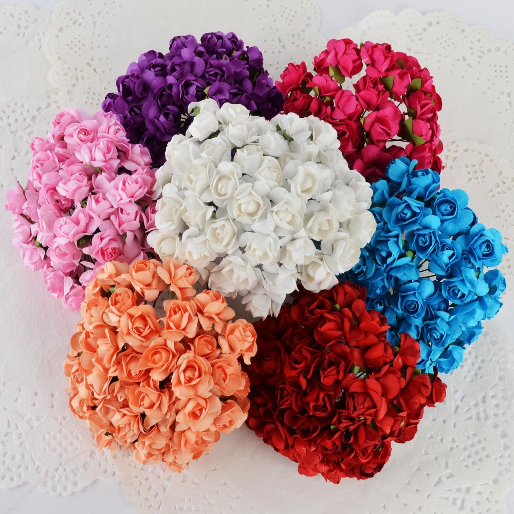 Aliexpress Com Buy 144pcs Pack Roses Artificial Flowers