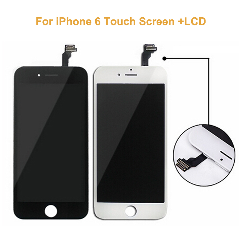 10 PCS/LOT New Black White LCD Display For iPhone 6+Touch Screen Touch Panel Glass Sensor Digitizer Assembly Replacement 1 pcs for iphone 4s lcd display touch screen digitizer glass frame white black color free shipping free tools