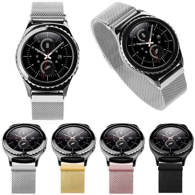 b1522108b61 Pulseiras de relógio milanese laço magnético bandfor samsung gear s2  classic sm-r732 do relógio
