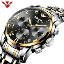NIBOSI Watch Men Fashion Sport Quartz Clock Mens