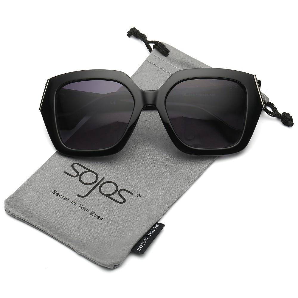 SojoS 2017 Brand New Womens Unique Big Huge Frame Oversized Squared Fashion Sunglasses SJ2029