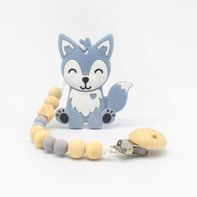 Personalised Name Silicone Wood Baby Pacifier Clips Chain Nipple Pacifier Chain With Holder For Baby Feeding Teether Shower Gift зажимы на соски doc johnson kink chain nipple clips with heavy chain and silicone tips
