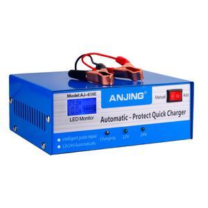 Image 2 - ANJING AJ 618E דופק תיקון סוללה מטען 130 V 250 V 200AH 12V 24V מלא אוטומטית סוללה מטען אופנוע רכב מהיר טעינה